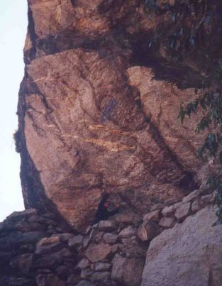 holding rock