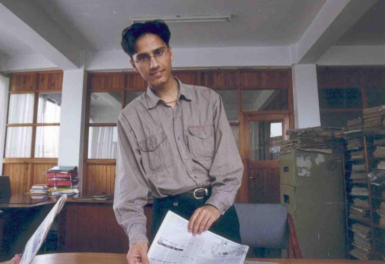 Dinesh Wage in Nepal magazine newsroom