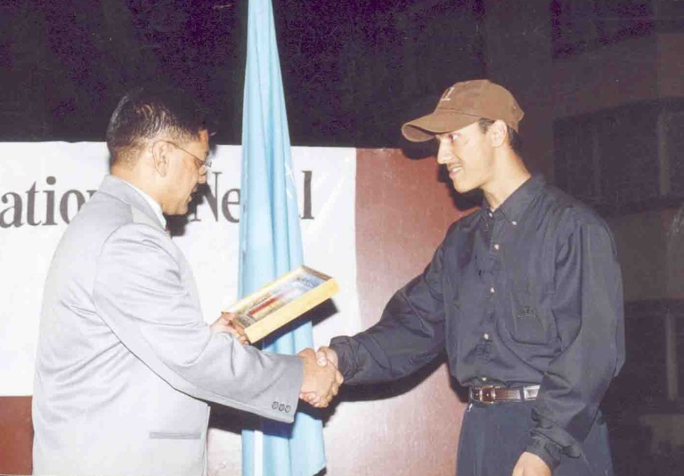 receiving computer association of nepal award