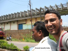 dinesh wagle goes to kolva beach from margo railway station in goa