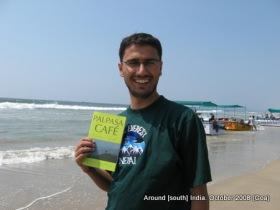 dinesh wagle in goa beach kolva with palpasa cafe