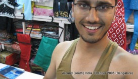 dinesh wagle busy ruapa undergarment in a shop in bangalore