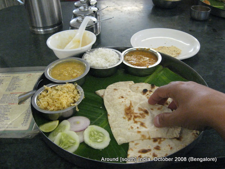 Food in Bangalore restaurant