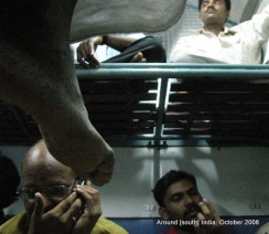 passengers in a train to madhurai from kanyakumari