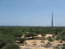 view of a tv tower and rameswaram temple