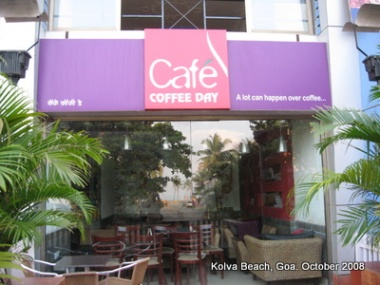 Cafe Coffee Day in Kolva beach, Goa