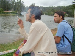 Trying out Gokul's (right) newly bought cigarette holder