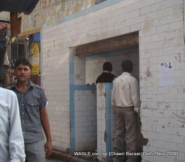 people in old delhi urinating