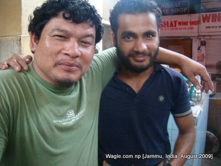 Sagar Rai and Rajesh KC in Jammu, India
