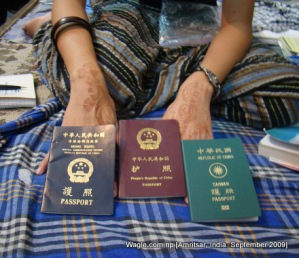 Passports issued by China, Hong Kong and Taiwan