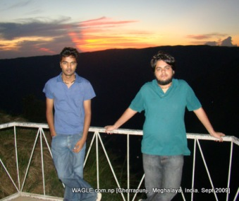 sunset in cherrapunji