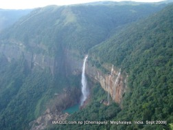 water falls of cherrapunji