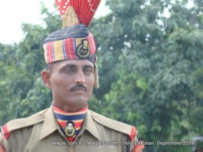 wagah border, security guard