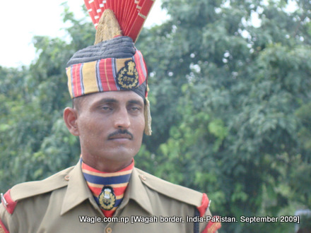 wagah border, security guard