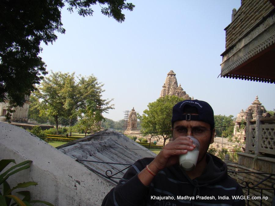 lassi and khajuraho temple