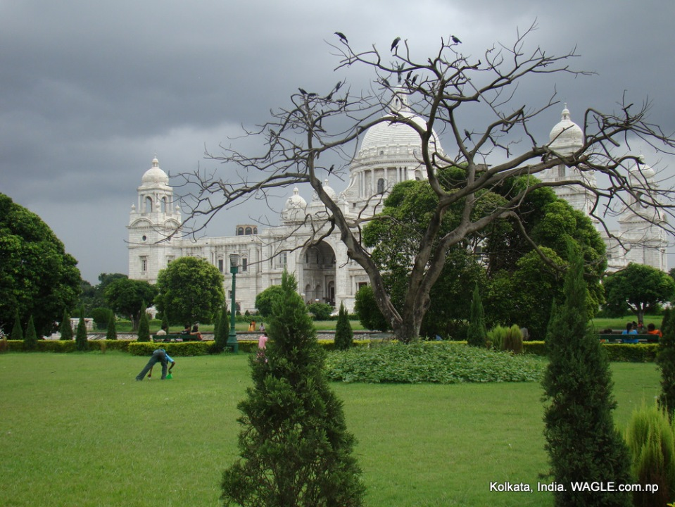 Victorial building, kolkata and park