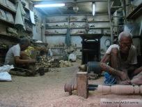 Men at work on MG Road, Kolkata