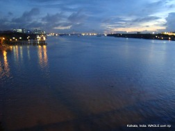View from Howrah bridge, kolkata