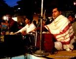 Varanasi ghats and singer