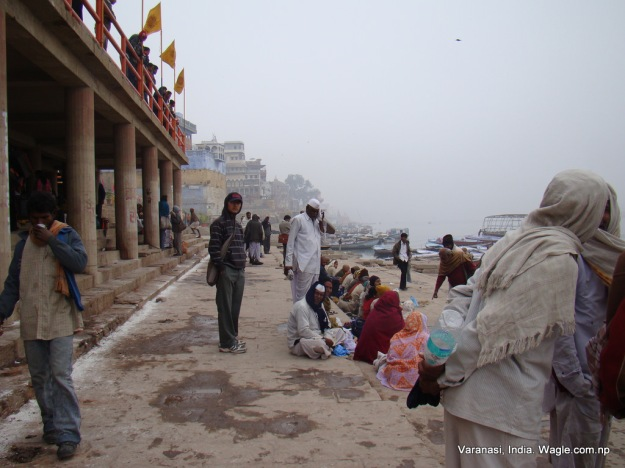 Ghats are almost always crowded by the devotees, touts and tourists