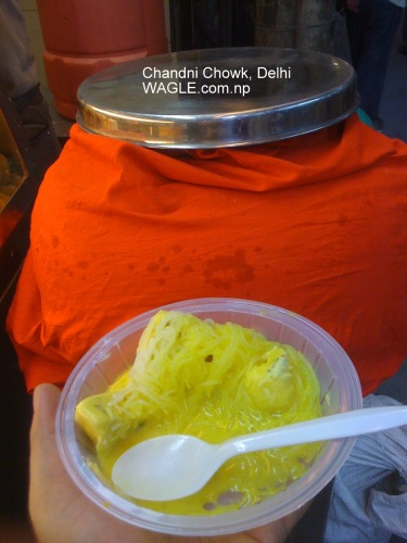 chandni chowk delhi kulfi faluda plate