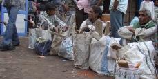 chawri bazaar old delhi. Men take rest on the street