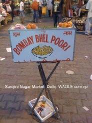 delhi sarojini nagar market bhel puri stall