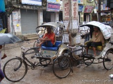rickshaw of kolkata, india