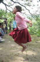skipping highway kids of nepal