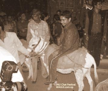 india holi jnu chat festival