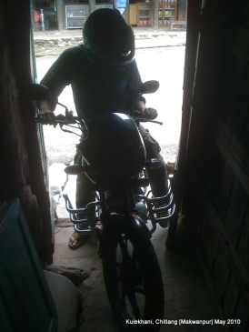 biking out