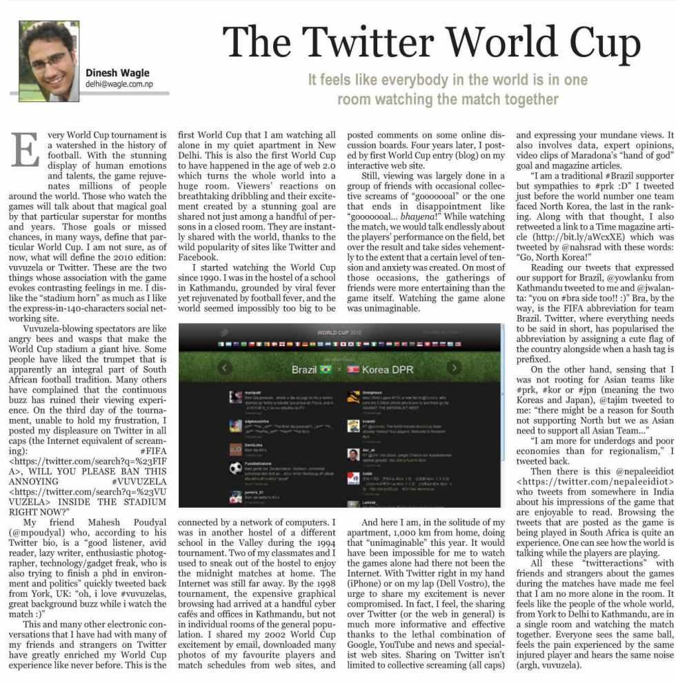 the twitter world cup kathmandu post