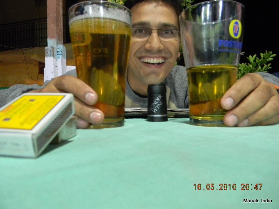 Dinesh & glasses of beer