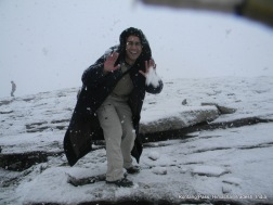 dinesh wagle pose rohtang pass himachal pradesh india
