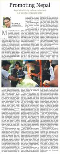 promoting nepal in india kathmandu post 8aug10