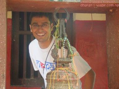 Dinesh Wagle in budha subba temple dharan nepal