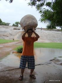 Krishna's Butterball, Mahabalipuram india stone carving monolith temples (20)