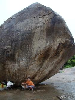 Krishna's Butterball. mahabalipuram india stone carving monolith temples (22)