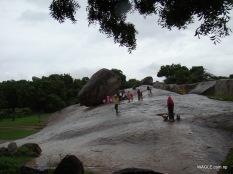 Krishna's Butterball, Mahabalipuram india stone carving monolith temples