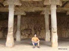 Pancha Paandava Cave. mahabalipuram india stone carving monolith temples