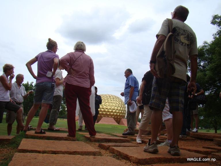 Tourists and Matrimandir
