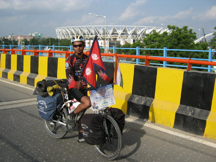 Saurab Dahal World Cyclist from Nepal (Kantipur)
