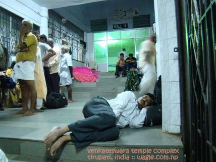 People Sleeping in Tirupati