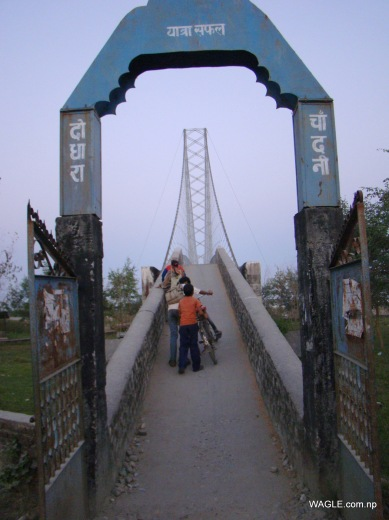 chandani dodhara suspension bridge on mahakali river in far west nepal