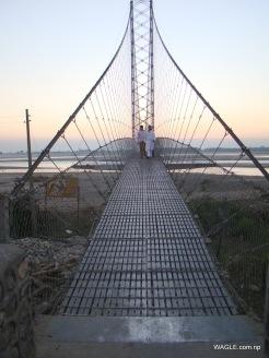 chandani dodhara suspension bridge on mahakali river in far west nepal