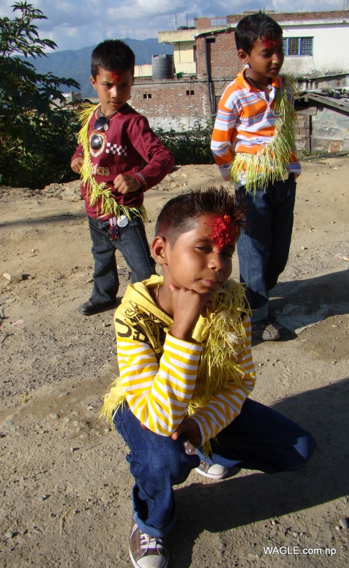 the happy kids of dadeldhura dashain day