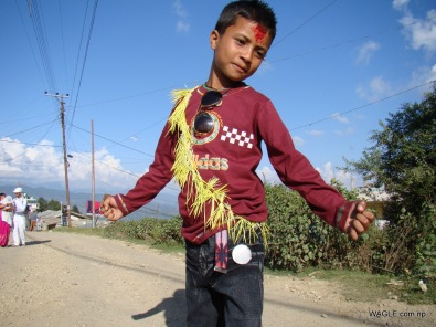 kids of dadeldhura nepal on the day of dashain tika