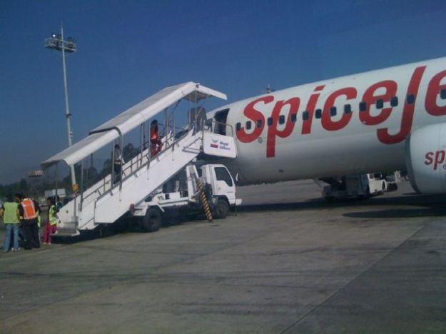 SpiceJet at kathmandu airport