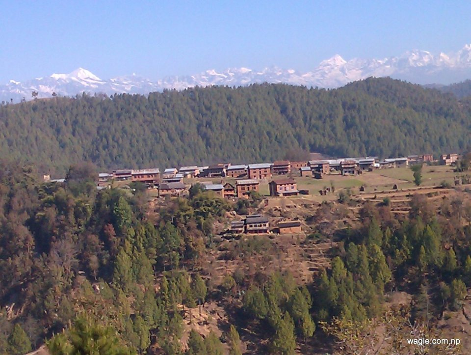 The Himalayas and the village
