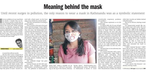Meaning Behind the Mask Kathmandu Post Monday 07 March 2010